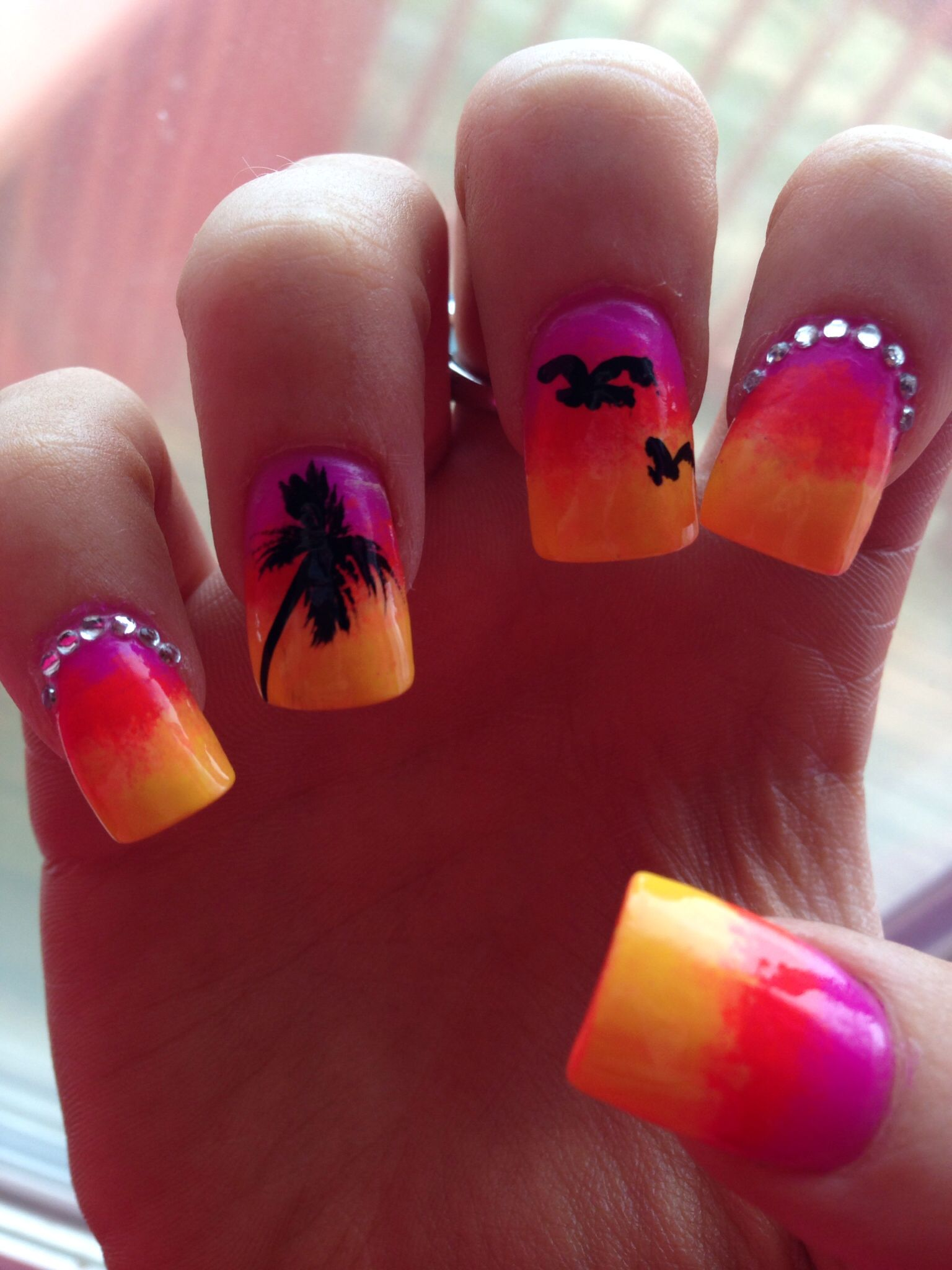 nail design tropical