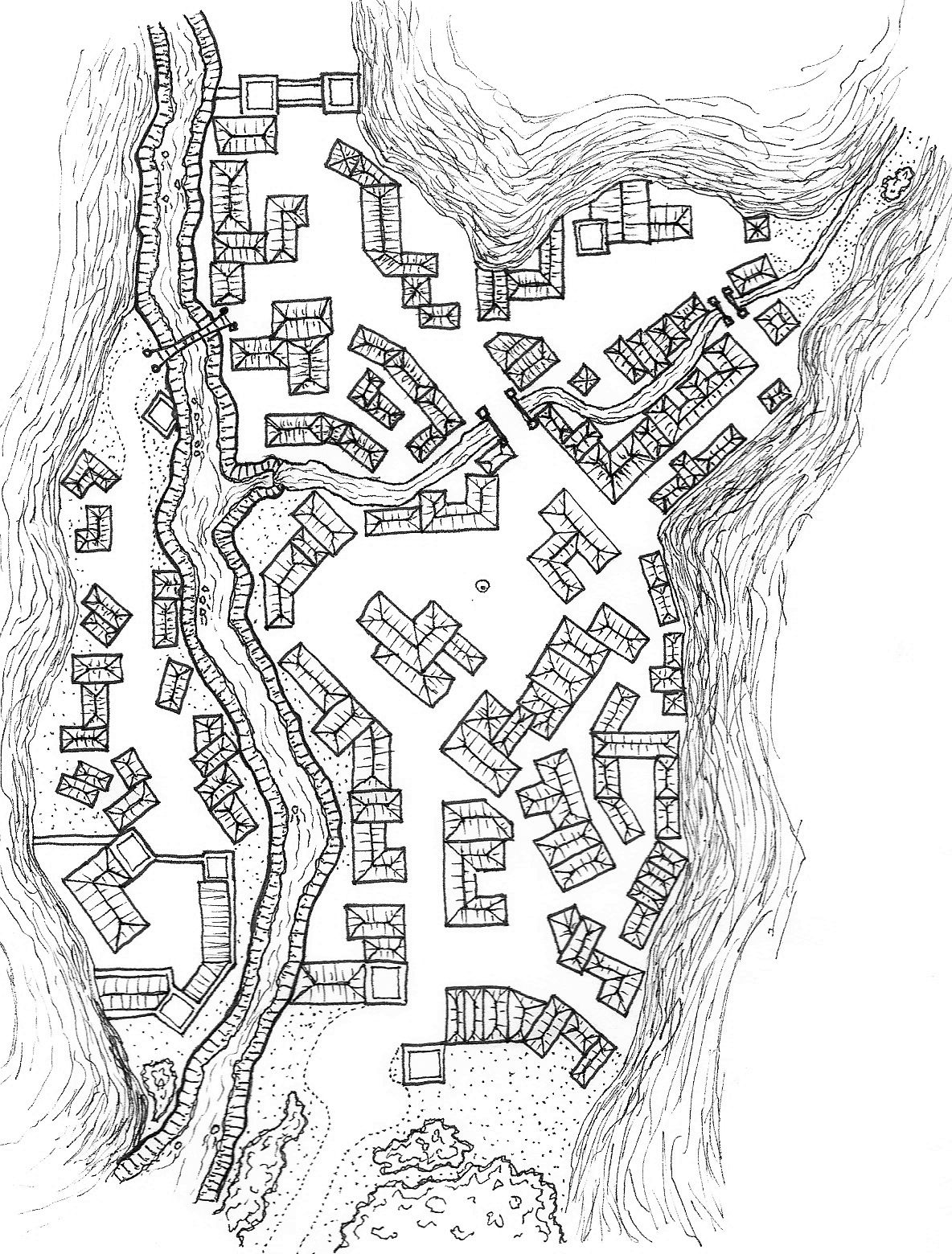 Mountain Town Map : mountain, Mountain, Village, Fantasy, Making,, Adventure