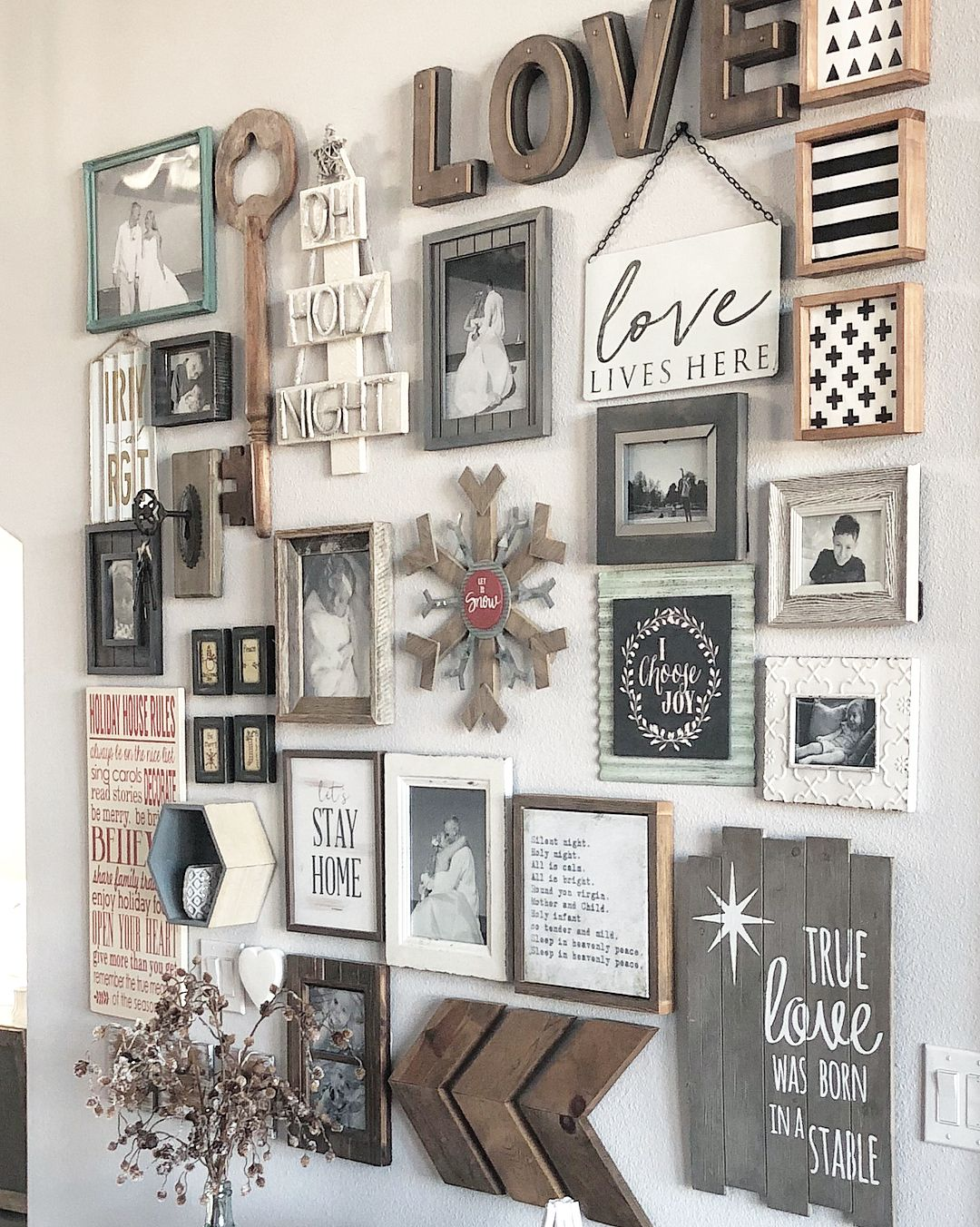 all already know how much  love gallery walls one of my favorite things about them is that they are interchangeable with the season or your mood also inspiring for rustic living room wall decor design rh pinterest
