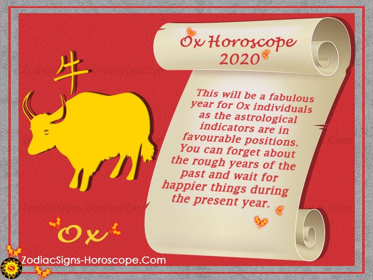 Ox Horoscope 2020 Chinese New Year 2020 Predictions For Ox Zodiac Horoscope Monthly Horoscope Oxen