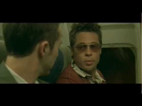 Fight Club - Edward Norton, Brad Pitt, Helena Bonham Carter - directed by David Fincher - based on a novel by Chuck Palaniuk