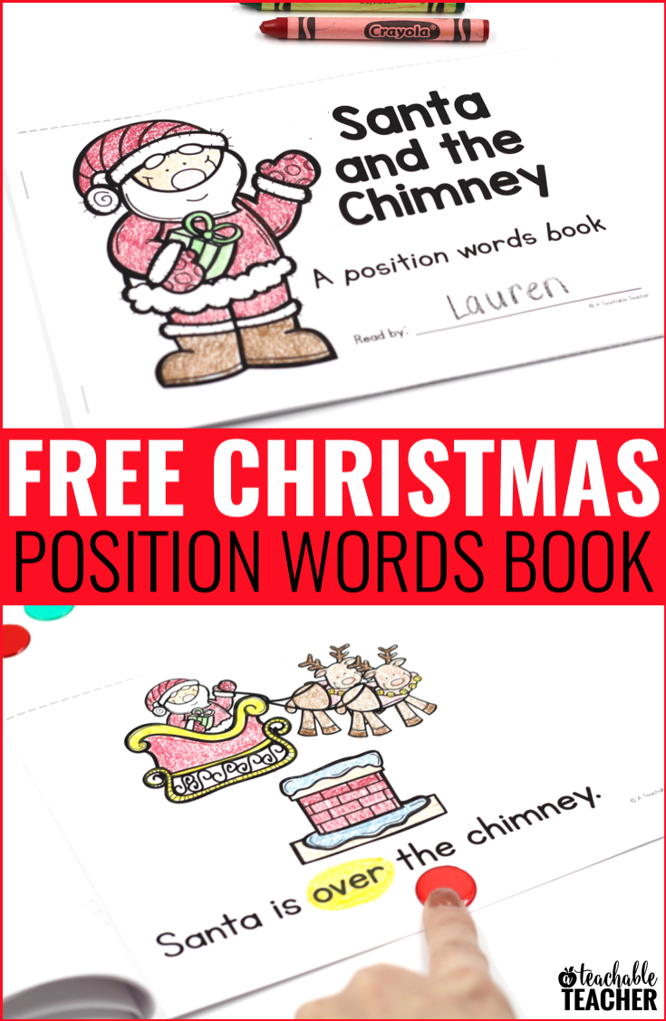 christmas position words activity book kindergarten christmas speech therapy preschool. Black Bedroom Furniture Sets. Home Design Ideas