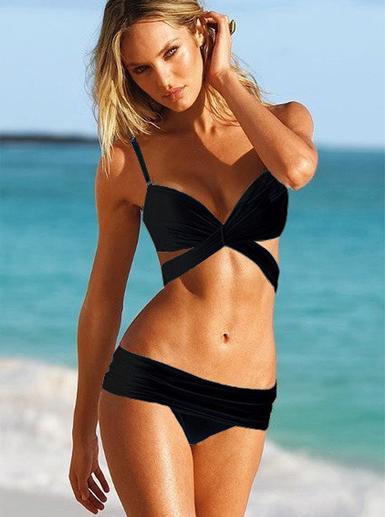 2adb73afbed ... Swim Bikinis. Cross Body Bikini (Black or White) from Kalliope's Closet  on Storenvy
