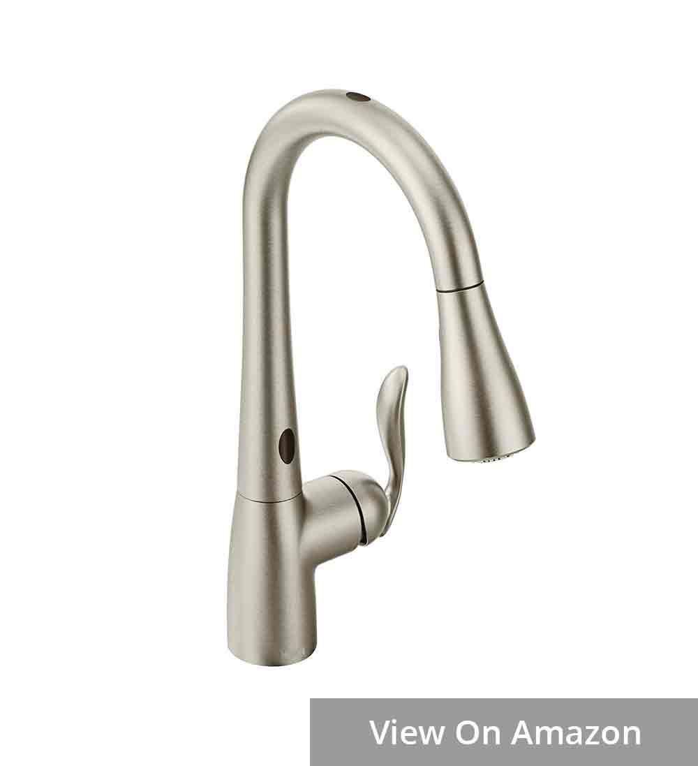 Moen 7594esrs Pull Down Kitchen Faucet With Sensor Has Super Long