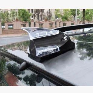Shark Fin Roof Antenna Signal Decoration Car Trim Wind LED Warning Flash Light