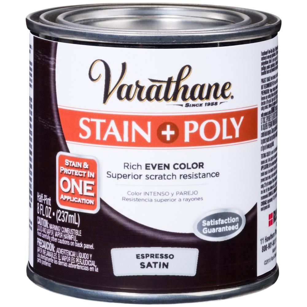 Varathane 8 Oz Espresso Satin Oil Based Interior Stain And Polyurethane 4 Pack Brown Varathane Stain Java Gel Stains Oak Wood Stain