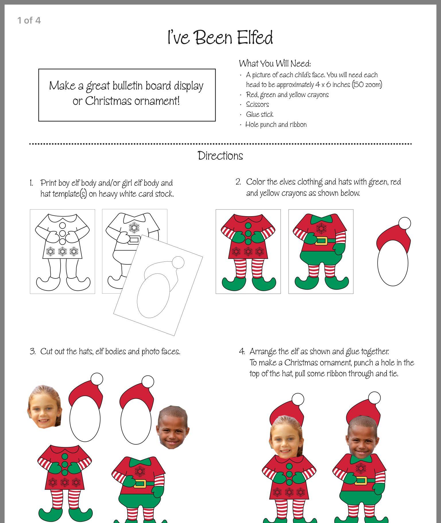 christmas elf body template www