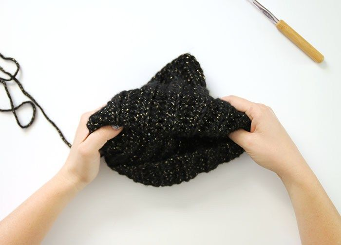 Black Cat Slouch Hat Free Crochet Cat Hat Pattern Slouch Hats