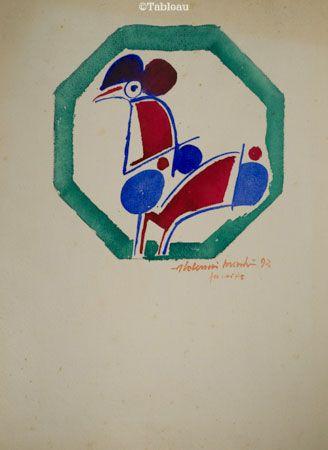 Aldemir Martins 1993 aquarela