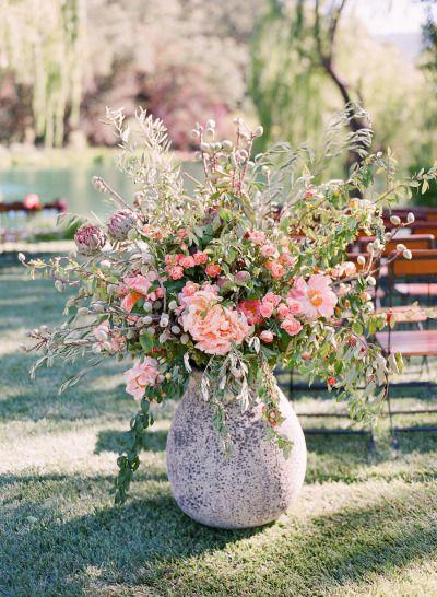 Elegant Picnic Wedding With A Fresh Color Palette Lace Wedding Flowers Flowers Wedding Flowers