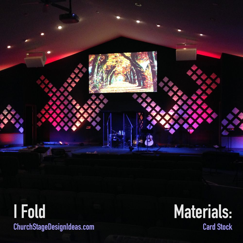 I Fold   Stage Design   Pinterest   Stage design, Church stage and ...