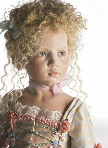 hildegard gunzel beautiful collectible museum porcelain wax Antoinnette Dolls