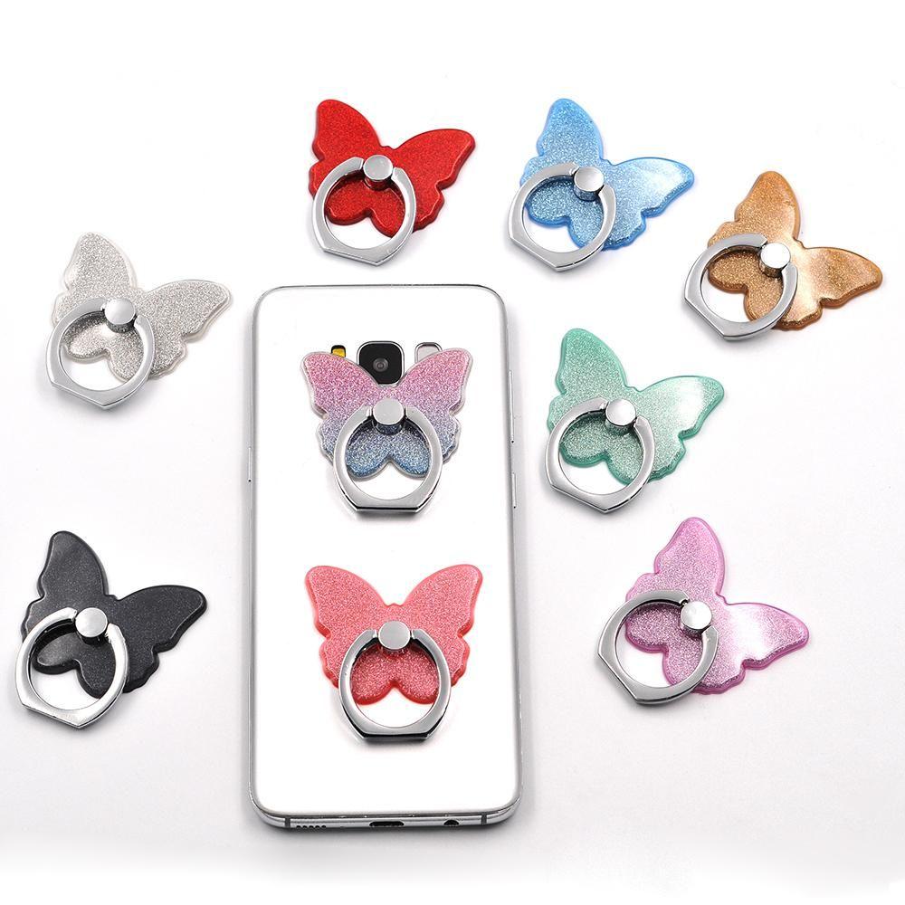 Butterflies 360 degree finger ring 3 in 1 mobile phone