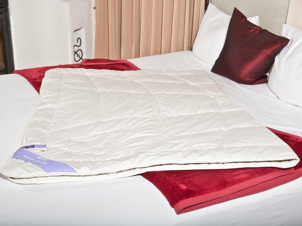 Alpaka Bettdecke 135x200 Steppbett Natur Baumwollfeinbatist Bed