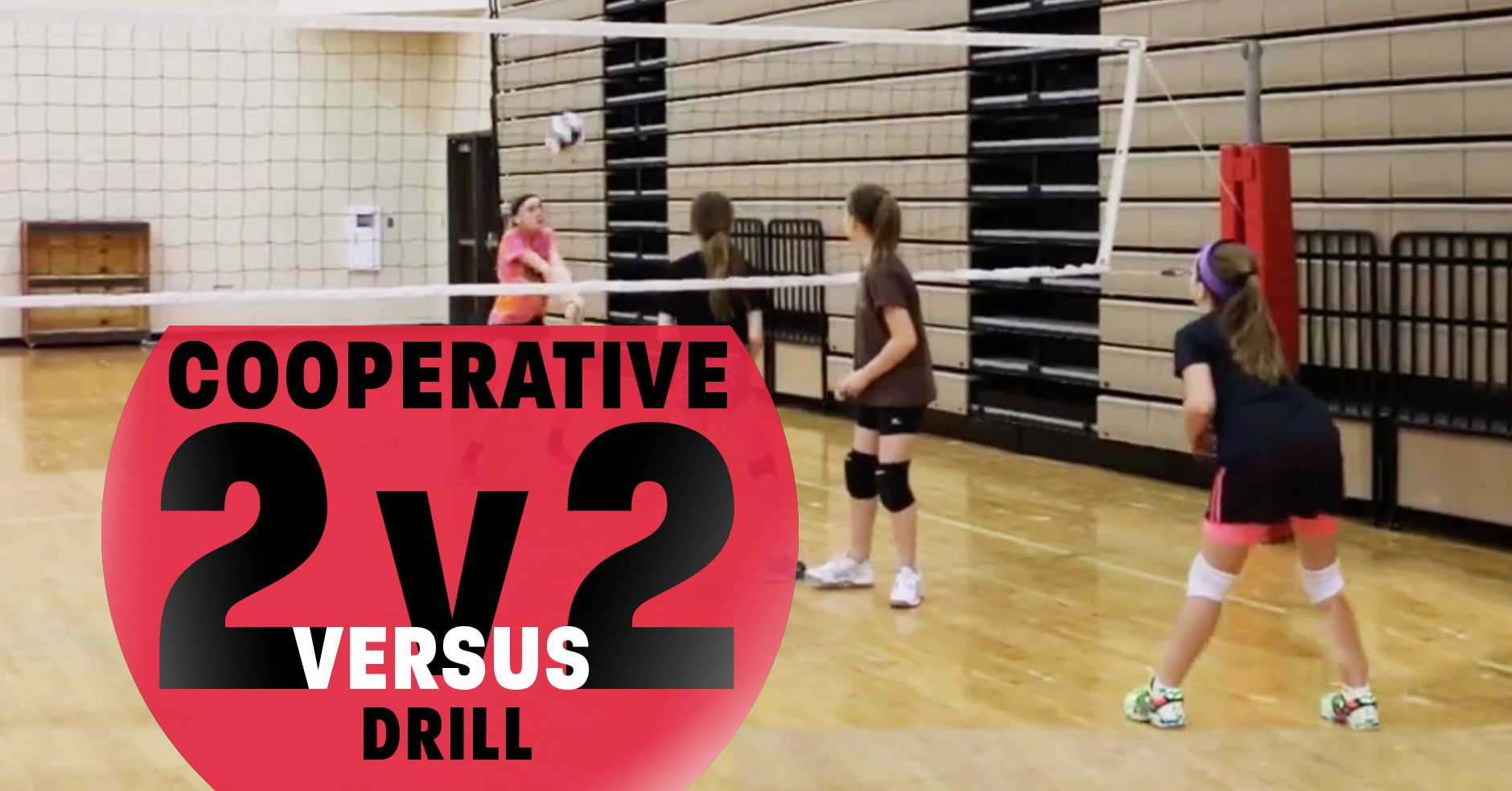 Cooperative Ball Control Drill 2 V 2 The Art Of Coaching Volleyball Coaching Volleyball Volleyball Drills Volleyball Practice