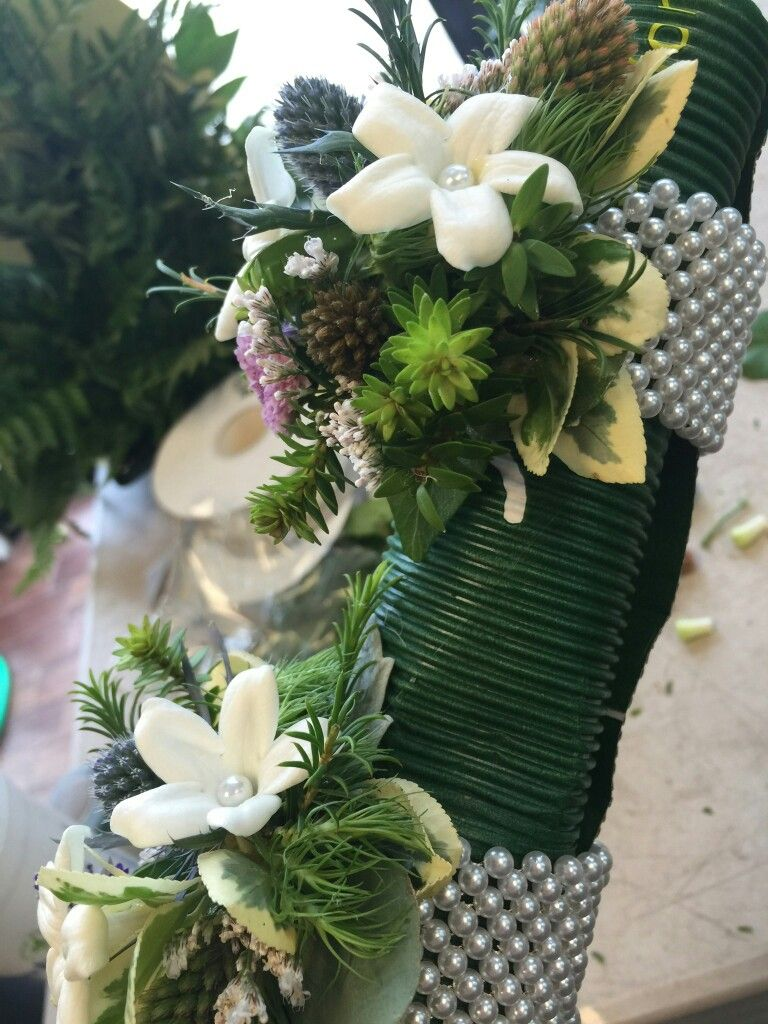 Wrist corsages with stephanotis on pearl bracelets by Ambrosia Gardens Portsmouth NH