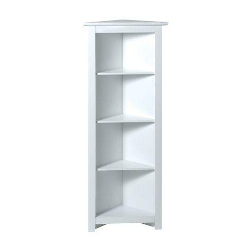 Corner Shelving Ideas White Shelves Picture