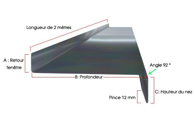 Appuis De Fenetre Gris Anthracite Ral 7016 1 Mm 2 Metres Gouttiere Online Appui De Fenetre Fenetres Alu Fenetres Aluminium