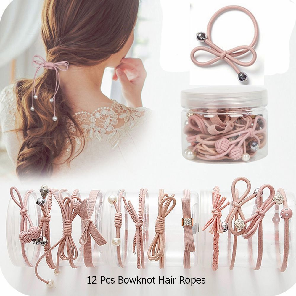Hair Rubber Band Elastic Clips with Hook Women Hair Ropes Ponytail Holder