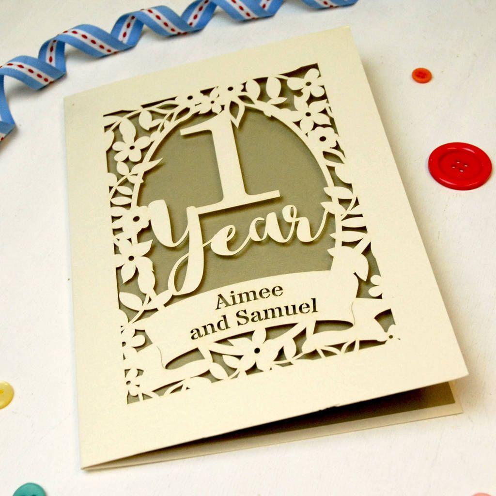 Papercut One Year Paper Anniversary