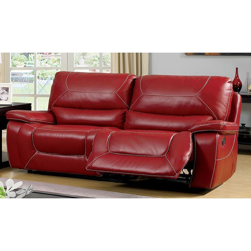 Sofa Tables Red Leather Reclining Sofa Loveseat Bonded Upholstered Match Furniture Couch NEW