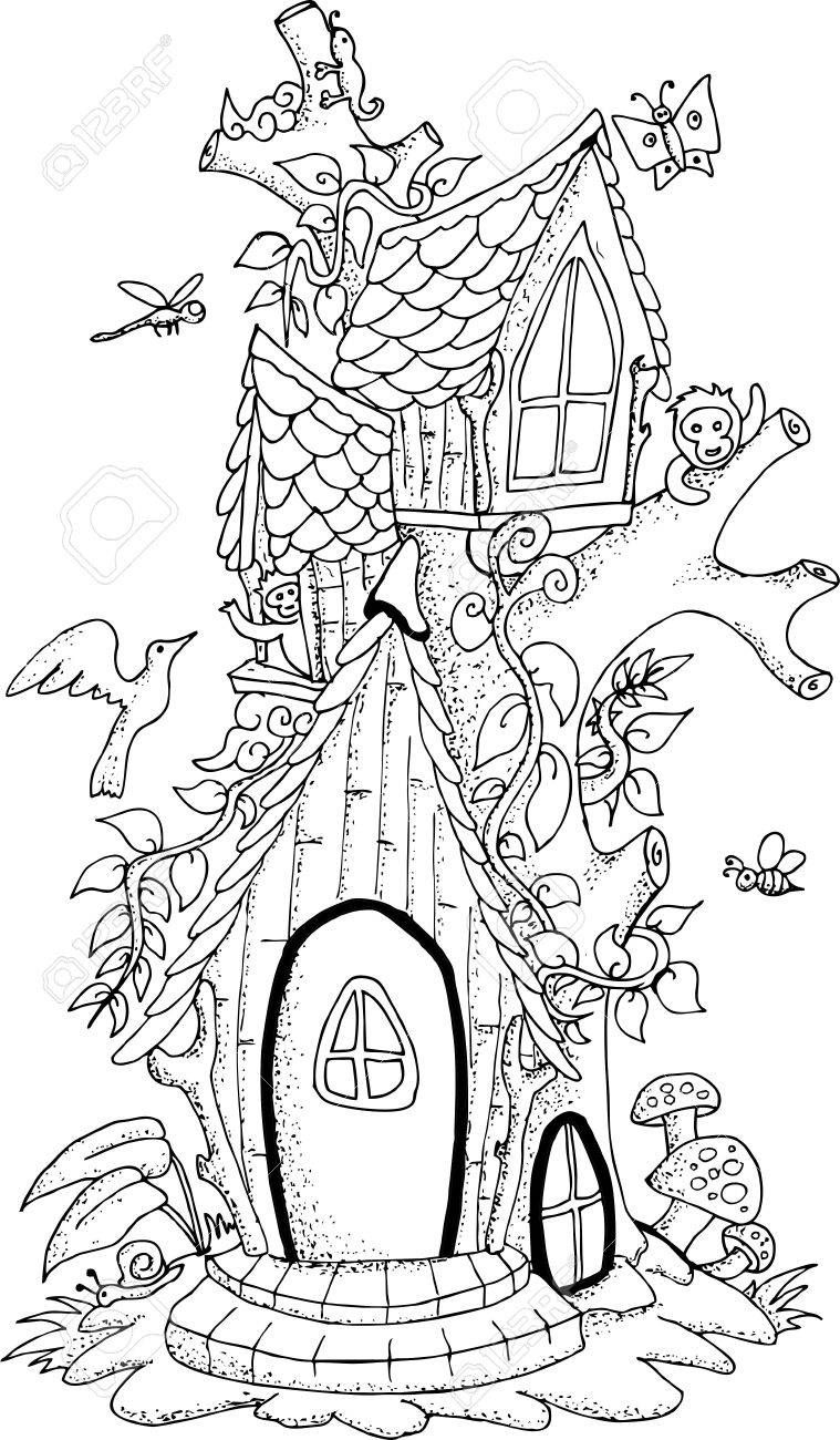 Image result for miniature cottage drawing owl coloring pages garden coloring pages house colouring