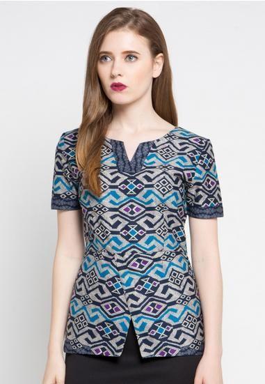 Model Batik Wanita Modern Terbaru 2017 Untuk Kerja Desain