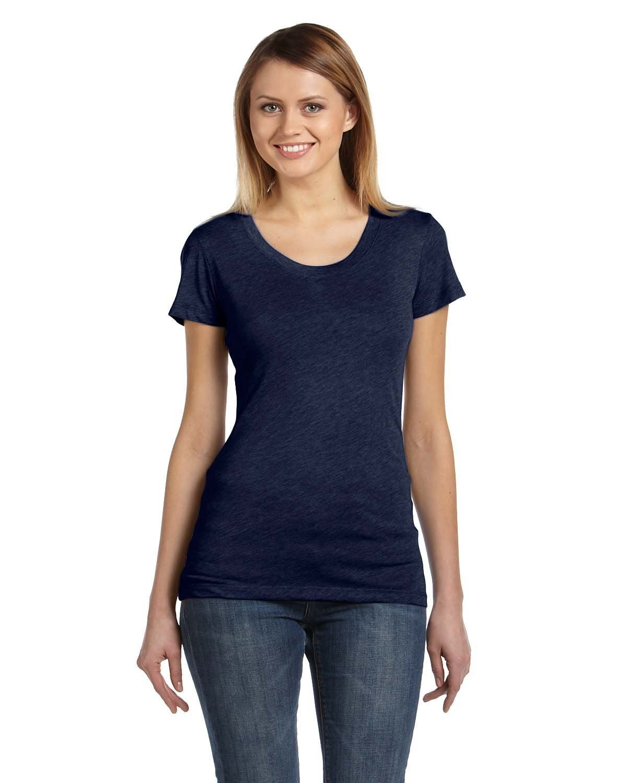 ba4f0e23 Bella + Canvas Ladies' Triblend Short-Sleeve T-Shirt B8413 NAVY TRIBLEND