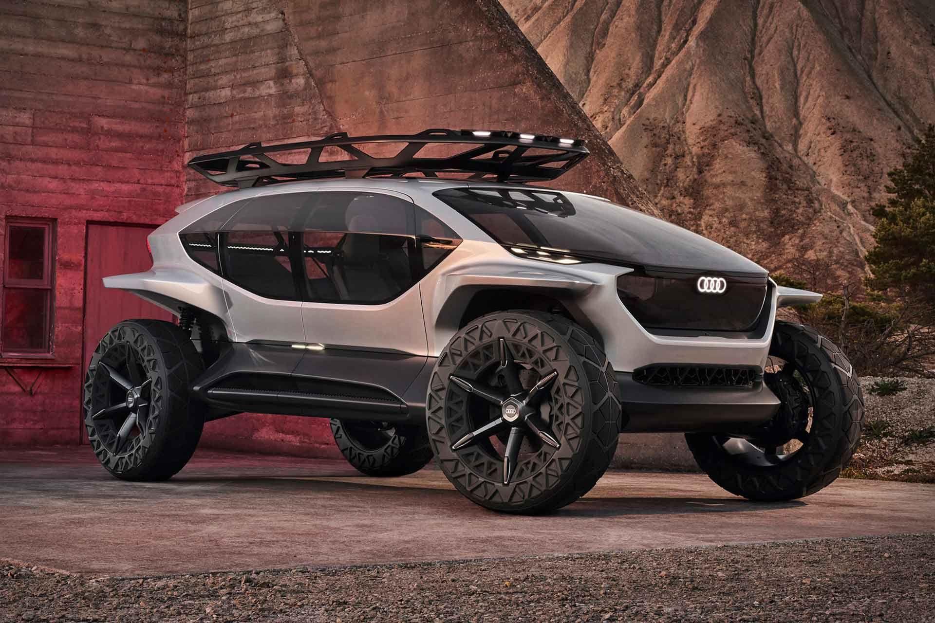 Audi Ai Trail Quattro Concept Suv In 2020 Concept Cars Concept Car Design Suv