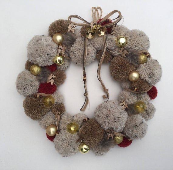 Couronne de Noël pompon