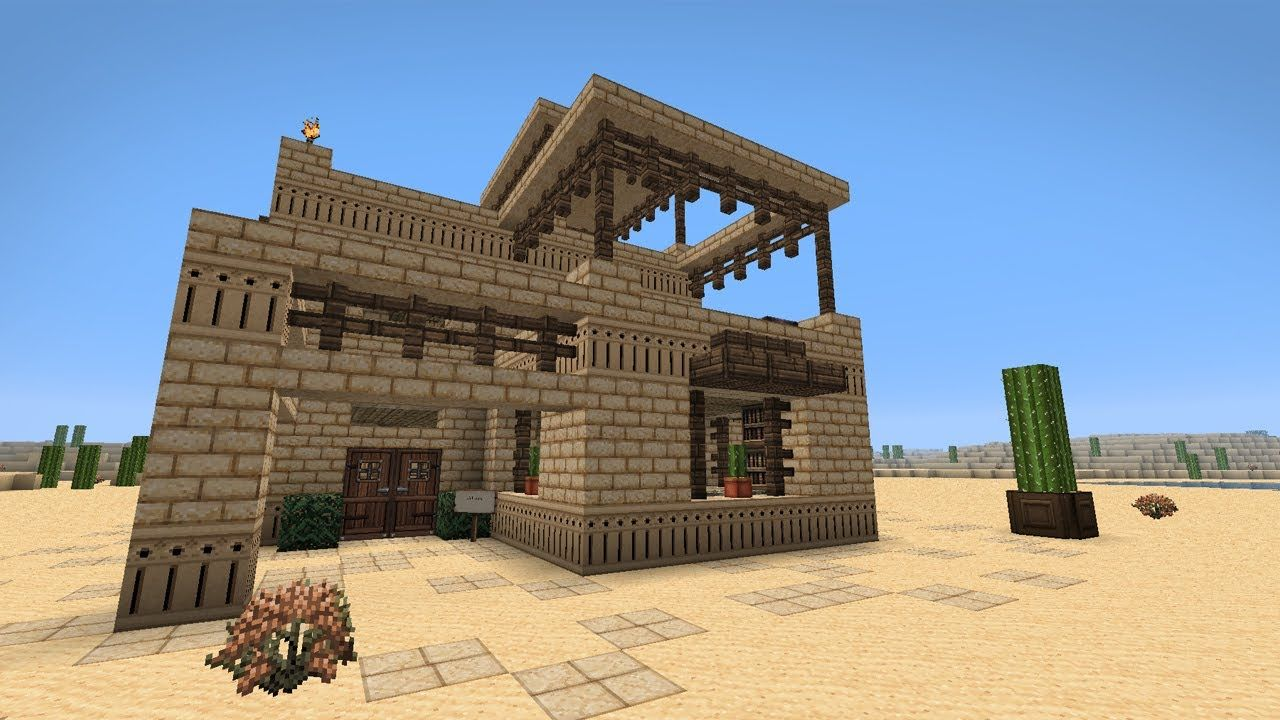 How To Build A Middle Eastern Desert House Minecraft Tutorial