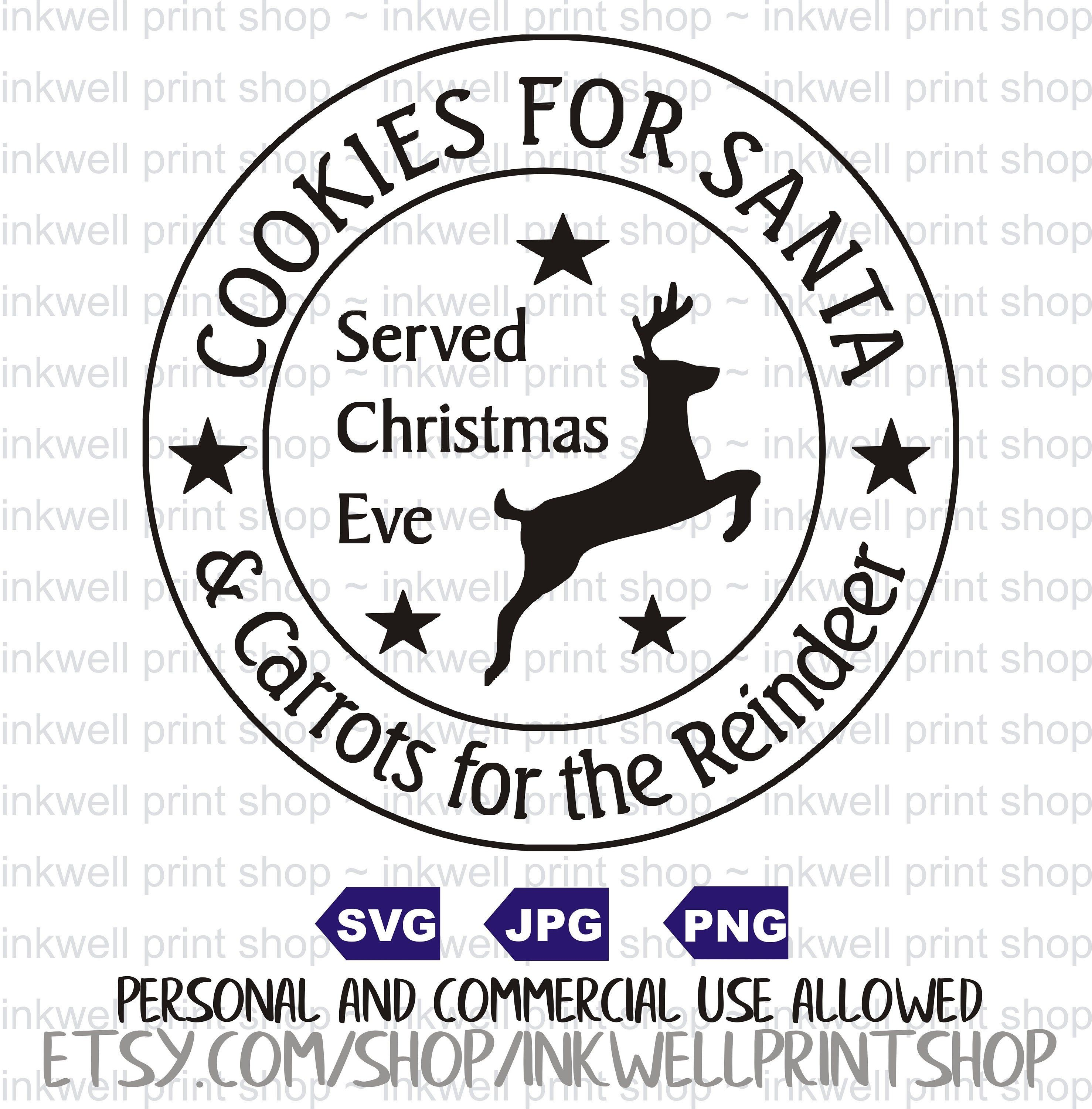 Cookies for Santa Christmas Themed clip art svg file SVG