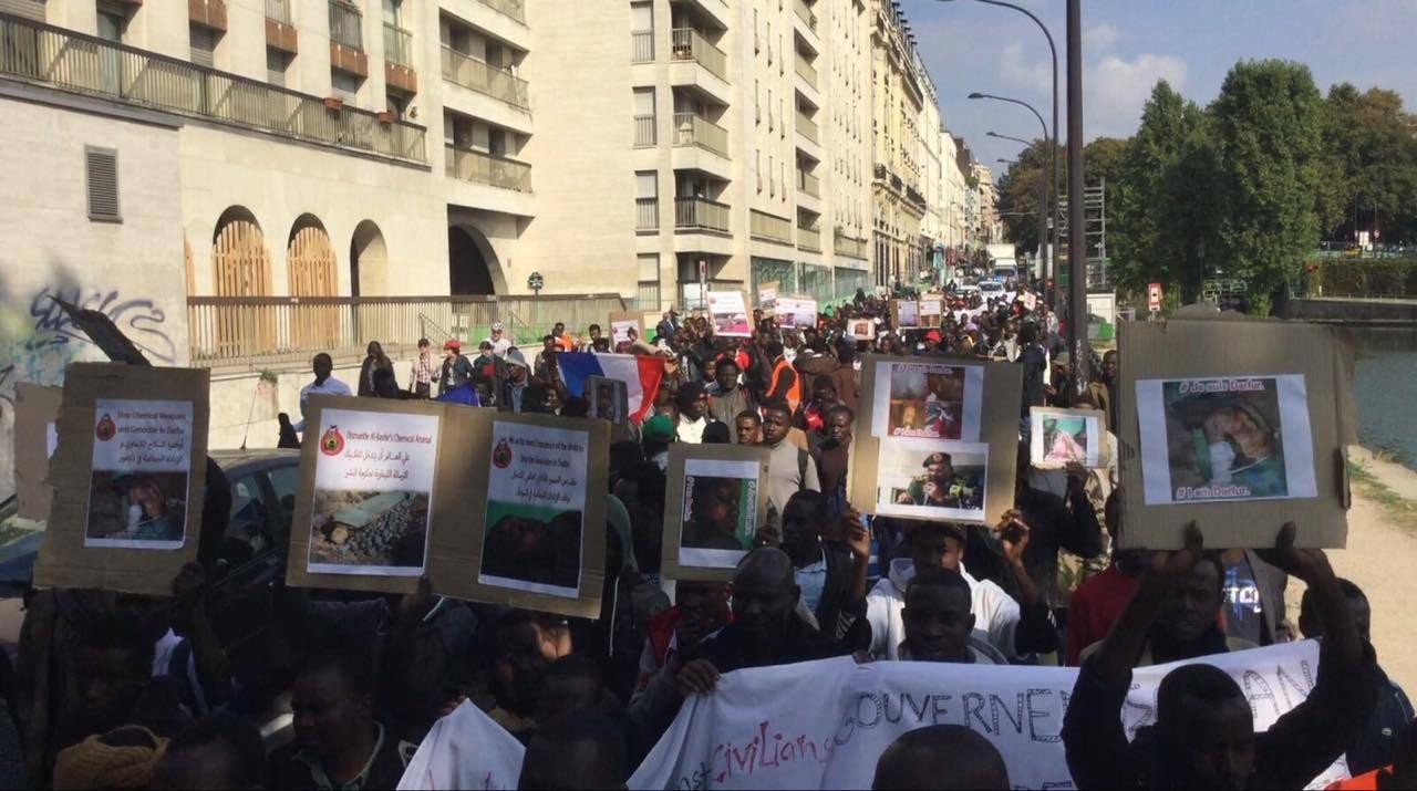 صور من مظاهرات السودانيين حول العالم لاستخدام الحكومة السلاح الكيماوي فى دارفور