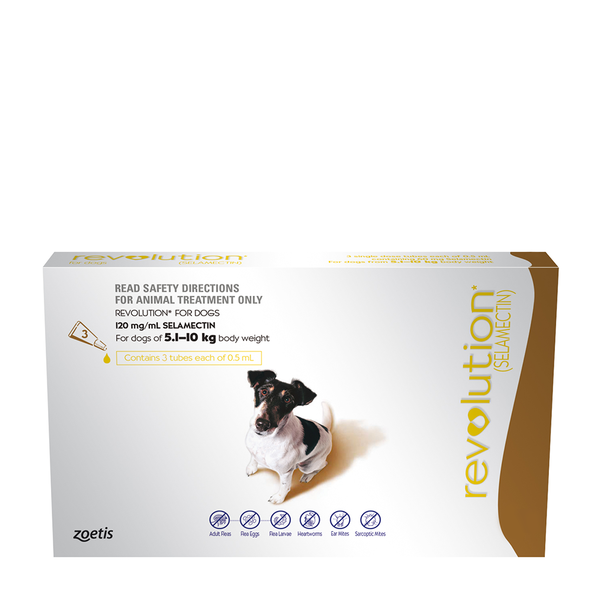 Revolution For Dogs Brown 5.1 10kg Animal treatment