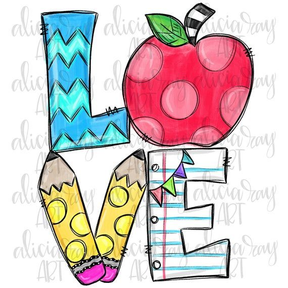 Teacher Sublimation Design Apple Pencil Hand Drawn Etsy In 2021 Printable Artwork How To Draw Hands Vinyl Crafts