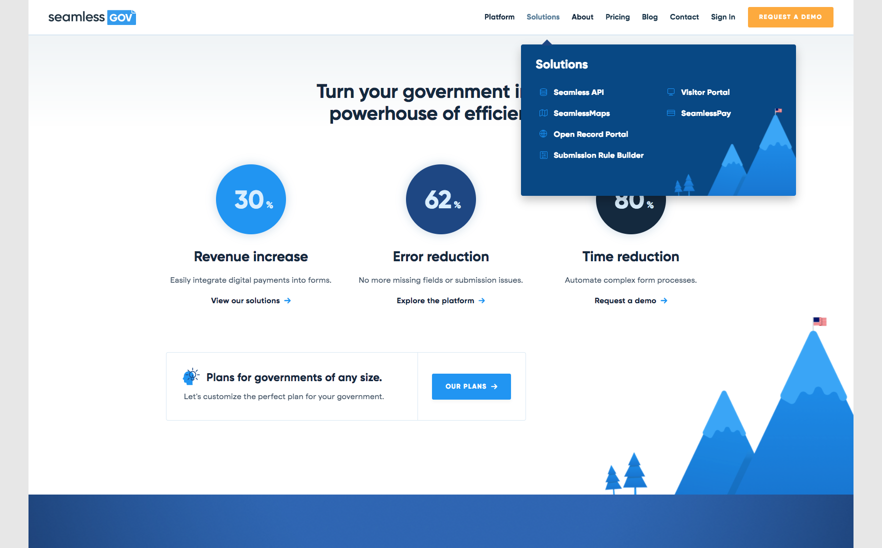 Corporate, clean, illustration, cool UI on navigation