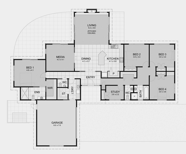 Big House Open Floor Plan House Plans Four Bedrooms Open House Plans Open Floor House Plans House Floor Plans