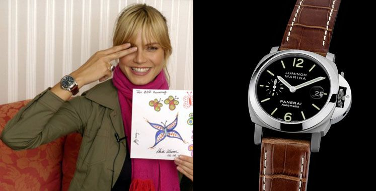 Klum field watch celebs and their panerai pinterest field watches celebrity and fine watches for Woman celebrity watches