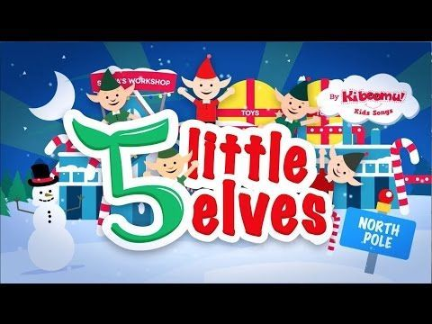 Five Little Elves Jumping on the Sleigh Song | Christmas Songs for ...
