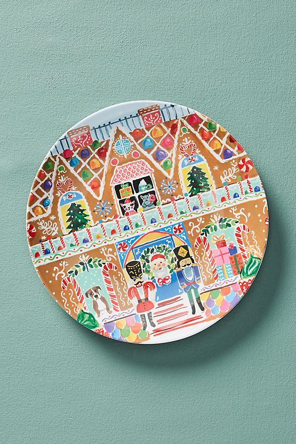 August Wren Kris Kringle Melamine Dessert Plate Керамика