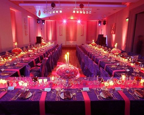 Pink & purple wedding reception ... How to organise your reception ...