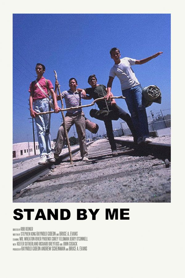 Stand By Me Poster In 2020 Movie Poster Wall Iconic Movie Posters Movie Posters Minimalist
