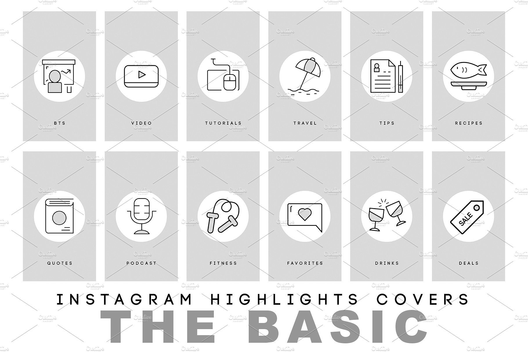 Modern and Basic Instagram Highlits Instagram, Beautiful