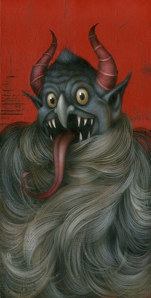 Kreepin\u0027 Krampus Dan May Pinterest Lowbrow art, Artist and