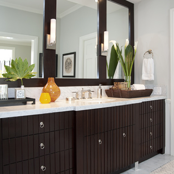 Bathroom Counter Designs Inspiration Espresso Cabinets Contemporary Bathroom Jennifer Davis Interior Design Ideas