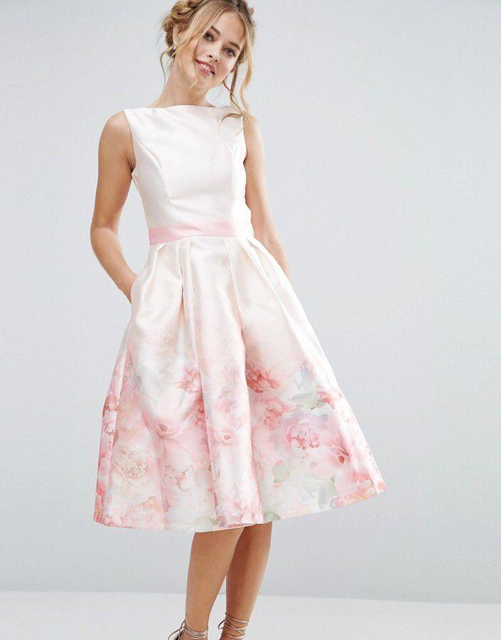Chi Chi London Satin 2 In 1 Printed Midi Dress Schone Kleider Kleider Damenkleider