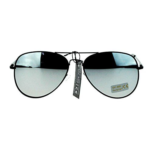 85c1a9929d Classic Mens Reflective Silver Mirror Lens Motorcycle Cop Aviator Sunglasses  Black    Click on the image for additional details.Note It is affiliate  link to ...