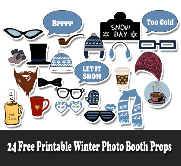 Free Printable Winter Photo Booth Props Photo Booth Props Free Printables Photo Booth Props Free Photo Booth Props