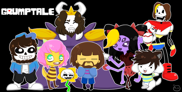 Game Grumps Steam Train As Undertale Characters They Re So