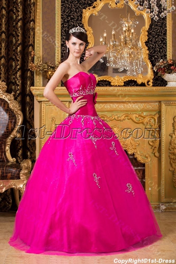 1st-dress.com Offers High Quality New Arrival 2014 Pretty Hot Pink ...